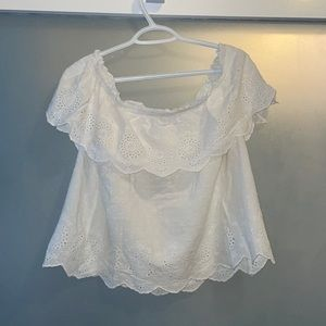 Off the Shoulder Top White Top